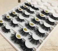 12 стилей 25мм длинных 3D норковых волосы накладных ресниц, чтобы сделать версию ресниц удлинения вручную 10 комплектами бесплатной доставки epacket