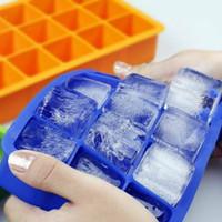 Silicone Glace Cube Maker 15-Cavity DIY Cube de glaçons Moules de moules pour gâteaux de glace Câble-bonbons Pudding Moules de Whisky Moules de Whisky