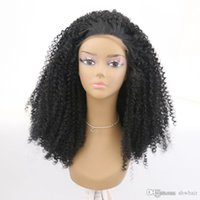 Synthetic Kinky Curly Lace Front Wig 180 Density For African...