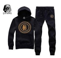 Mens LAST KING Brand Tracksuits Casual Sports Hooded Hoodies...