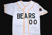 사용자 정의 번호 BAD NEWS BEARS MOVIE BUTTON DOWN BASEBALL JERSEY WHITE 남성 유니폼 유니폼 셔츠 S - XXXL 무료 배송