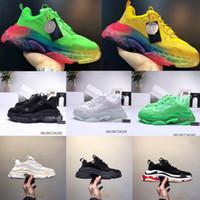 2019 패션 파리 캐주얼 신발 17FW 남성 여성을위한 트리플 S 아빠 베이지 색 블랙 스포츠 디자이너 트리플 S 신발 크기 36-45