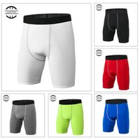 Yuerlian High Elastic Men Short de compression serré pour homme Séchage rapide Compression Pantalon court de musculation
