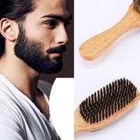 BellyLady manija de madera Hombres Barba cepillo de doble cara de la cara del cepillo de pelo cara masculina Mensaje de afeitar