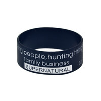 1PC 1 Inch Wide TV Series Supernatural Silicone Wristband A ...