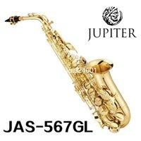 Vaka Aksesuarları Ücretsiz Kargo ile benzersiz Jüpiter JAS-567GL Alto Saksafon Eb Ayarlama Pirinç Altın müzik aleti profesyonel