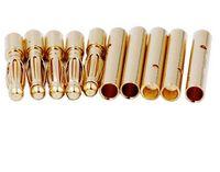 10ピースアムスバナナプラグ2mm 3mm 3.5mm 4mmの弾丸女性オスコネクタ5mm 5.5mm 6mm 6.5mm 8mm金メッキ銅RC部品ヘッド