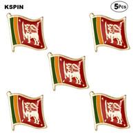 Sri Lanka Flagge Broschen Revers Pin Flagge Abzeichen-Brosche Abzeichen 5pcs ein Lot