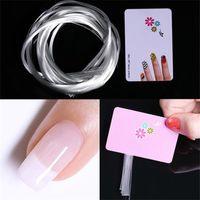 UV Jel DIY Çiviler Beyaz Akrilik Tırnak Uzatma İpuçları Manikür Aracı Lif Tırnak İpek 5M Nail Art Fiberglas