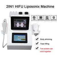 Последние потери LipoSonix жира машина для похудения HIFU для ухода за кожей наиболее эффективное использование ультразвуковой HIFU лица домашняя машина