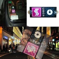 1 pcs acrílico conveniente UBER LYFT sinal Car Rideshare táxi dentro Side Windows Display