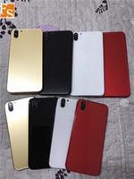 En kaliteli Arka Kapak Konut iPhone 6 6 artı 6S 6splus gibi X 10 stil Alüminyum Metal Arka Pil Kapı Kapak Değiştirme