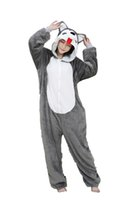 Animal Unisex Onesie Fancy Dress Husky Dog Costume Hoodies P...