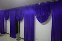 6M الملكي اسعة سوجس الزرقاء المصمم زفاف تصاميم خلفية حزب الستار الستائر الاحتفال المرحلة الأداء خلفية الحرير الستارة