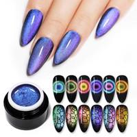 Necesidad NACIDO BASTANTE Nail 9D ojo de gato Gel Gel camaleón magnética esmalte de uñas púrpura semi UV Permanente Varnis 5 ml Base Negro