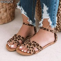 2020Summer Plus Size 43 Sandals Women' s Flat Beach Shoe...