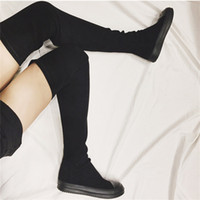 9cf153c8a04d New Arrival. Fornihapfirafs Sexy Women Stretch Fabric Slim Thigh High Boots  Black Woman ...