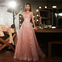 Sexy Rose Gold Seaurs Robe de soirée Long Shinny 2020 Nouveaux Sangles Carré Sirène Maxi Maxi Prom Geak Robe Abendkleider