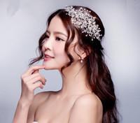 Accessoires De Cheveux De Mariée De La Mode Corée Brillant De Mariée Bandeau Weedding Tiara Couronne Lady Bandeau Couronne De Mariage Pinces À Cheveux