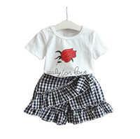 New design baby girls summer outfist children rose flower co...
