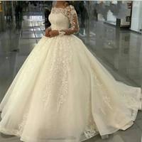 Nouvelle arrivée Robe de mariée Robes de mariée à manches longues Appliques Dentelle Muslim 2019 Gelinlik robe de mariée robes de mariée