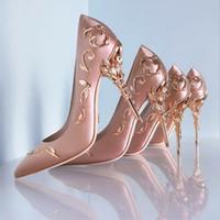Pembe Rahat Tasarımcı Düğün Gelin Ayakkabıları Ipek Leke Eden Topuklu Düğün Akşam Doğum Günü Partisi Balo Ayakkabı için Ayakkabı Slip-On