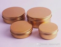 aluminum jar container gold empty cosmetic cream wax tin can...