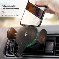 شاحن سيارة 10W اللاسلكية X9 هاتف القوس التلقائي الحث حامل الهاتف الهاتف المحمول سيارة مع سيارة شاحن لاسلكي ABS + سيليكون