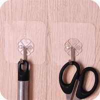 1 piece of transparent strong viscose hanger hook nail- free ...