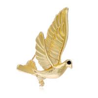 Mini accessorio all'ingrosso 12pcs unisex pace colomba uccello spilla decorazione regalo per uomo donna regalo