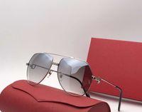 نظارات شمسية للرجال لون اسود مصنوع من البلاستيك VENDOME SANTOS VINTAGE SUNGLASSES GOLD PLATED BLUE LEN