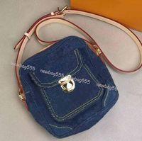 Todo o jogo wome mini câmera com zíper saco novo design da marca dos homens denim flap crossbody bag sacos de ombro cintura saco carteira woc 44468 44466 44460