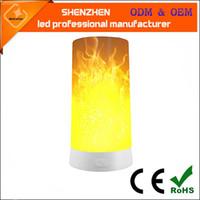 2020 neue Fernbedienung Nachtlampe Cross-Border-Schreibtischlampe LED tragbarer Magnet Flamme Lampe USB intelligente Fernbedienung Nachtlicht