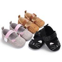 2020 Nova Primavera Queda recém-nascido Gato Primeira Walkers Bebé bonito menina macia Sole Crib Shoes Sneaker Baby Kids Casual Buckle Sapatos