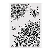 Mandala Çiçek Tasarım Yeniden kullanılabilir Katmanlama Şablonlar Şablon İçin Duvar Mobilya Kumaş Dekor Boyama DIY Boyama A2 Boyut