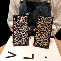 Fashion brand Square Leopard print case for iphone 7 8 6 6s ...