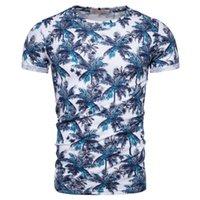 Лето 2020 Новый дизайн Хлопок печати тенниска Men Casual Hawaii Стиль T Shirt O-образным вырезом футболки Мужчины высокого качества Мужчины Топы Тис