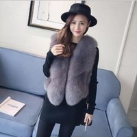 Vetement 2019 das mulheres casaco de inverno da pele do falso Artificial Fur Vest Furry Coletes Femme Jackets Plus Size Furry Falso Gilet Q961