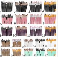 20Pcs Profesyonel Makyaj Fırçalar Seti Pudra Fondöten Göz Farı Yukarı Fırçalar Kozmetik Yumuşak Sentetik Saç olun set