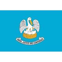 Yüksek Kaliteli Louisiana Eyalet Bayrağı Uçan Dekorasyon 3x5 FT Banner 90x150cm Festivali Parti Hediye 100D Polyester Baskılı Sıcak satış!