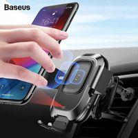 حامل الهاتف Baseus سيارة لفون سامسونج الذكي الأشعة تحت الحمراء تشى لاسلكي سيارة شاحن الهواء تنفيس جبل حامل الهاتف المحمول حامل