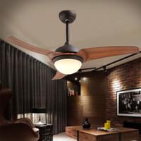 Оптовые высококачественные американские ретро классические потолочные вентиляторы простой европейский стиль светодиодный пульт дистанционного управления вентилятор