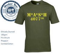 MASH 4077th Tribute T Shirt Military Army Green New Men Size...