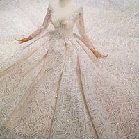 2019 Newest Design Wedding Dresses With Royal Long Train Dee...