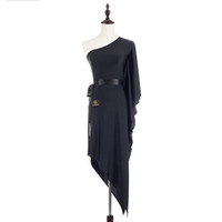 Bühnenabzug Verkauf Latin Tanzkleid Für Damen Schwarz Seide Backless Rock Schöne Frauen Dame Modisch Indien Ballsaal Kleider
