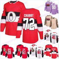 72 Thomas Chabot Ottawa Senadores Jersey 95 Matt Duchene 61 Mark Stone 7 Brady Tkachuk 41 Craig Anderson 9 Ryan 65 Karlsson Hockey Jerseys