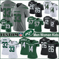 NY 33 Jamal Adams New Football Jerseys York Custom Men Women Kids Jet 14 Sam Darnold 26 LeVeon Bell 28 Curtis Martin 12 Joe Namath 57 Mosley