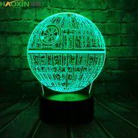 HaoXin 핫 세일 전쟁 3D의 USB LED 램프 아크릴 등 다채로운 볼 전구 분위기 용암 밤 빛 조명 선물