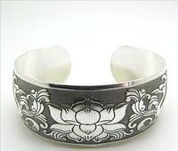 2019 Hot Selling Supply, Różnorodne bransoletki Miao Srebrny Tybetański Biżuteria Silver Hurtownie styl etniczny