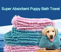 Fibra de secagem rápida água animal de estimação toalha de banho super absorvente filhote de cachorro tapete cães cobertor macio gato banhando a prova de molde prático fácil limpo DH0320